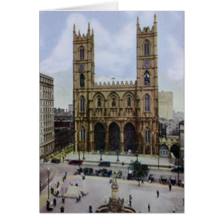 Montreal Canada Notre Dame Cathedral Card