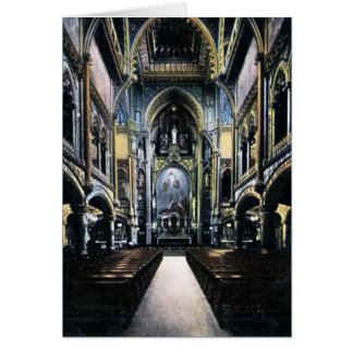 Montreal Canada Notre Dame Cathedral Interior Card