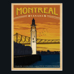 "Montreal, Canada Postcard<br><div class=""desc"">Anderson Design Group is an award-winning illustration and design firm in Nashville,  Tennessee. Founder Joel Anderson directs a team of talented artists to create original poster art that looks like classic vintage advertising prints from the 1920s to the 1960s.</div>"