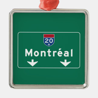 Montreal, Canada Road Sign Metal Ornament