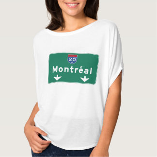 Montreal, Canada Road Sign T-Shirt