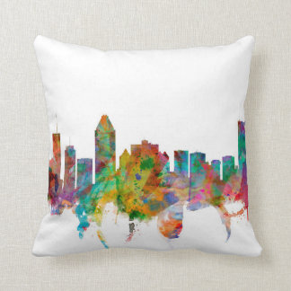 Montreal Canada Skyline Pillow