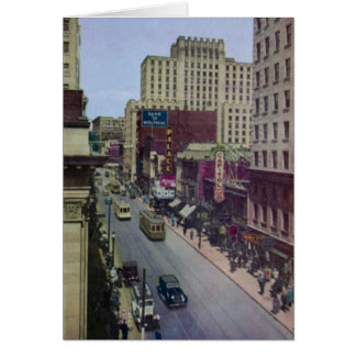 Montreal Canada St Catherine Street Card