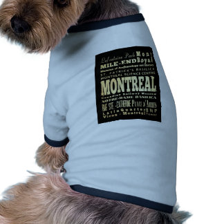 Montreal City of Canada Typography Art Pet Clothes
