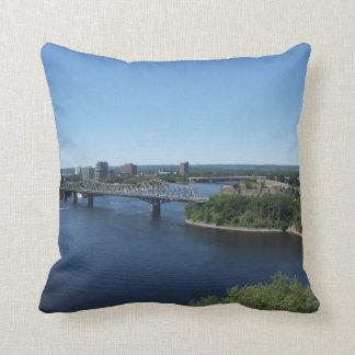 Montreal City River Bridge Cushion