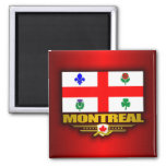Montreal Flag 2 Inch Square Magnet
