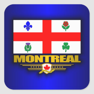 Montreal Flag Square Stickers