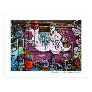 Montréal Graffiti Photo Postcard by Brad Hines