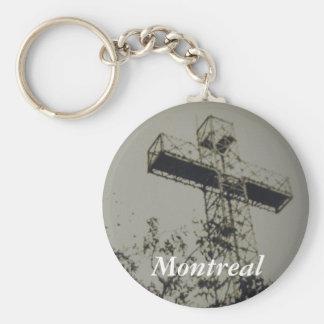 Montreal Historical church cross keychain