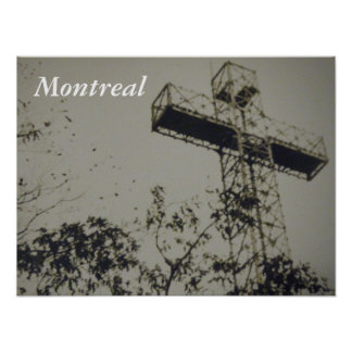 Montreal Historical church cross poster