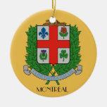 Montreal*, ornamento del navidad de Quebec Adorno Navideño Redondo De Cerámica