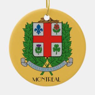 Montreal*, ornamento del navidad de Quebec Adorno Redondo De Cerámica