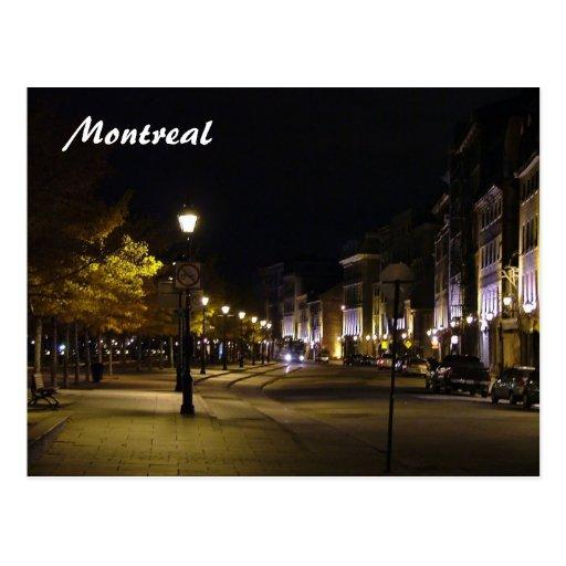 Montreal por noche tarjetas postales
