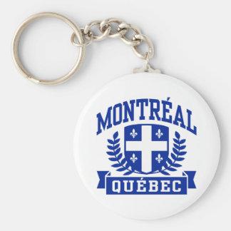 Montreal Quebec Basic Round Button Keychain