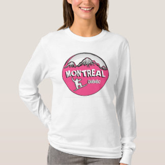 Montreal Quebec Canada pink snowboard hoodie