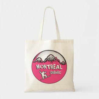 Montreal Quebec Canada pink snowboarder bag