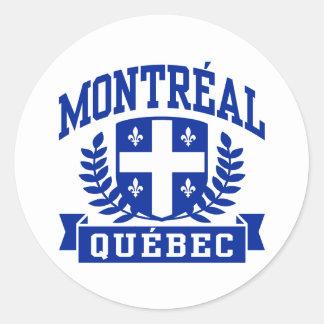 Montreal Quebec Classic Round Sticker