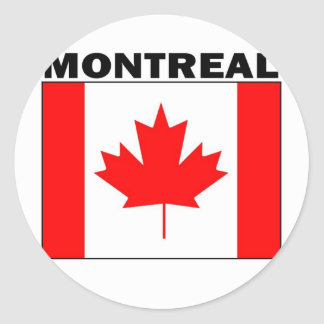 Montreal, Quebec Classic Round Sticker