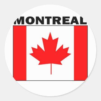 Montreal, Quebec Etiquetas Redondas