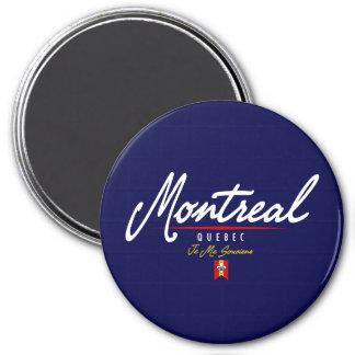 Montreal Script 3 Inch Round Magnet