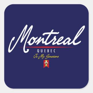 Montreal Script Square Sticker