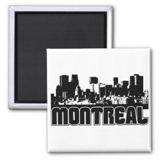 Montreal Skyline 2 Inch Square Magnet