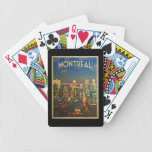 Montreal Skyline Bicycle Playing Cards