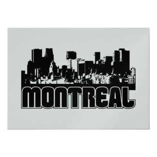 Montreal Skyline Card
