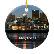 Montreal Skyline Ceramic Ornament