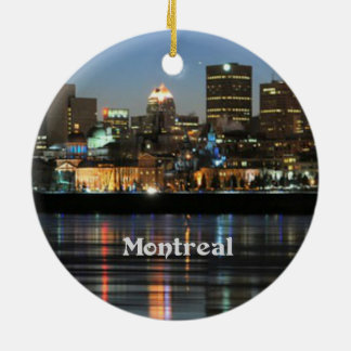 Montreal Skyline Ceramic Ornament
