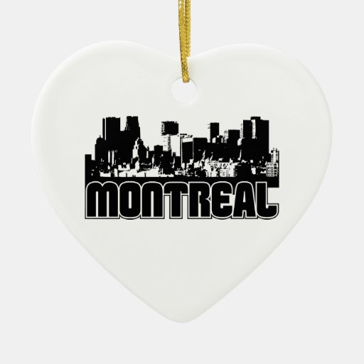 Montreal Skyline Christmas Ornaments
