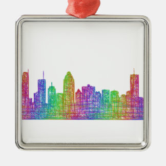 Montreal skyline metal ornament
