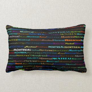 Montreal Text Design I Lumbar Pillow