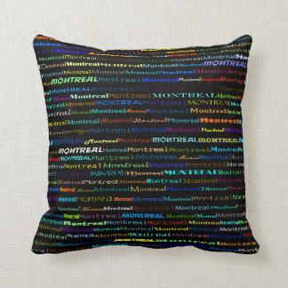 Montreal Text Design I Throw Pillow