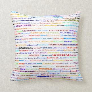 Montreal Text Design II Throw Pillow