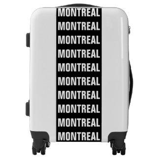 MONTREAL, Typo white Luggage