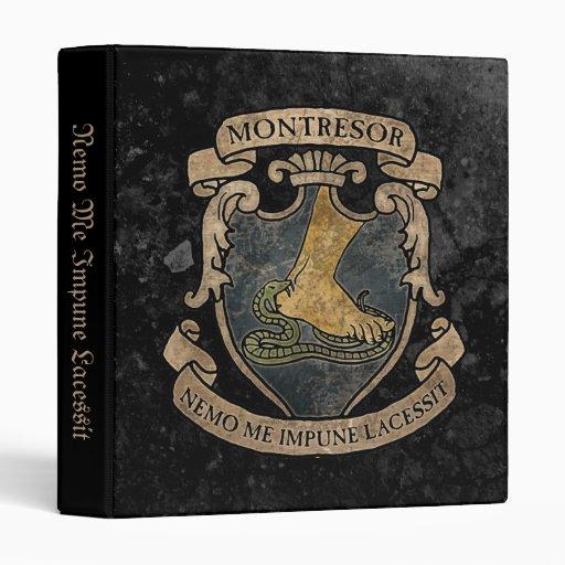 Monterors U Monterors: Montresor Coat Of Arms 3 Ring Binders