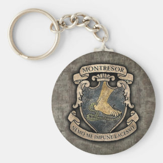 Montresor Coat of Arms Basic Round Button Keychain