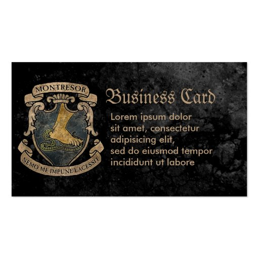 Montresor Coat of Arms Business Cards