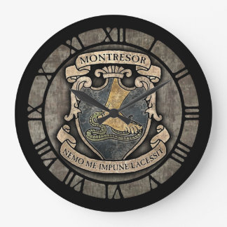 Montresor Coat Of Arms Round Wallclocks
