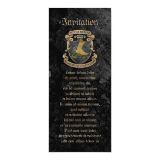 Montresor Coat of Arms 4x9.25 Paper Invitation Card