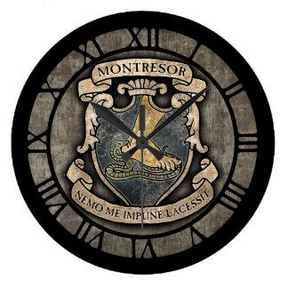 Montresor Coat Of Arms Large Clock