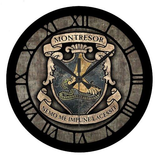 Monterors U Monterors: Montresor Coat Of Arms Round Wallclocks