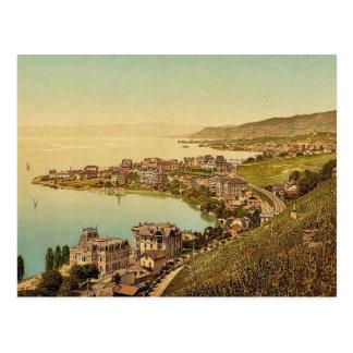 Montreux, and Clarens, Geneva Lake, Switzerland vi Postcard