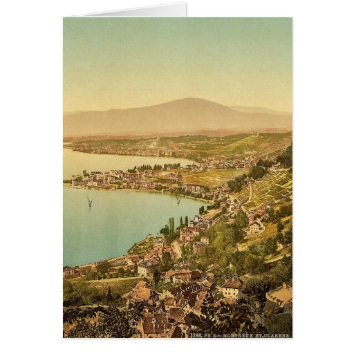 Montreux, and Clarens, Geneve Lake, Switzerland vi Greeting Card
