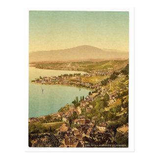 Montreux, and Clarens, Geneve Lake, Switzerland vi Postcard