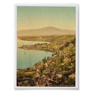 Montreux, and Clarens, Geneve Lake, Switzerland vi Poster
