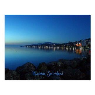 Montreux by night postcard