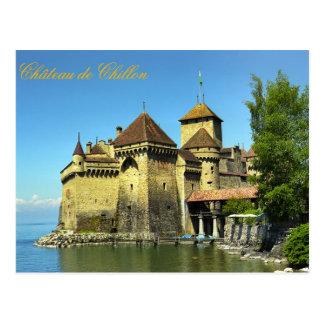 Montreux castle postcard