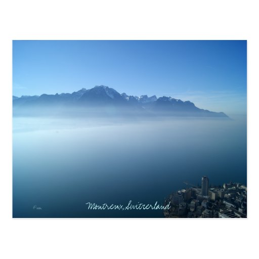 Montreux out of the blue postcard